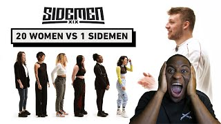 20 WOMEN VS 1 SIDEMEN HARRY EDITION | American Reacts