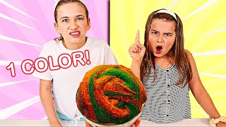 USE ONLY ONE COLOR TO FIX THIS SLIME CHALLENGE! | JKrew