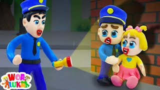 Police Luka Find Baby Lost - Luka Learns Outdoor Safety 👮 Play Doh Cartoon - WOA Luka Channel