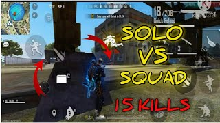 SOLO VS SQUAD.FREE FIRE.GAMEPLAY❤❤❤❤❤❤💚💙