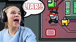 My SISTER Was The IMPOSTOR and LIED!! **AMONG US** | JKREW GAMING