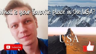 Russian Guy Reacts to Top 25 Places To Visit In The USA !!!
