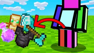 Minecraft BUT Crouch = Spawn OP Items...
