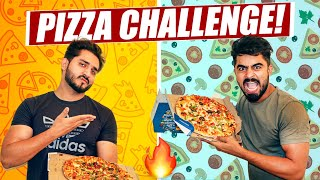 LARGE PIZZA EATING CHALLENGE 🔥