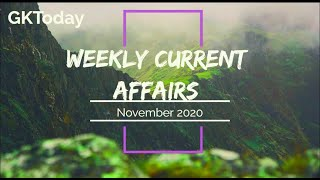 November 2020 current affairs in English | Week 1