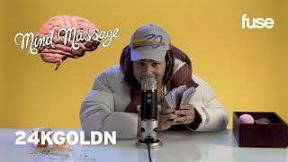 "24kGoldn Does ASMR with Kinetic Sand, Talks ""DROPPED OUTTA COLLEGE"" & More! 