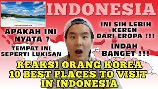 [REAKSI ORANG KOREA] 10 Best Places to Visit in Indonesia - Travel Video