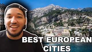 American Reacts to TOP 10 CITIES TO VISIT IN EUROPE *Best Cities in Europe*
