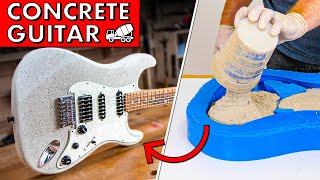 I built a GUITAR out of CONCRETE. How does it SOUND?!