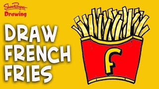 How to draw French Fries -  Easy Step-by-step for kids