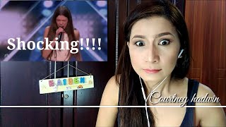 My shocking 1st reaction to Courtney hadwin at America's Got Talent!