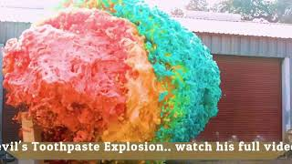 World's Largest Devil's Toothpaste Explosion| Mark Rober 科学实验  Guinness book world record - reaction