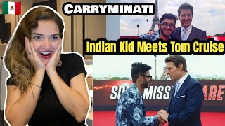 Carryminati : Indian Kid Meets Tom Cruise Reaction | Mexican Girl