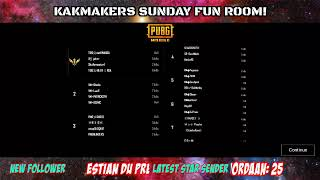 KAKMAKERS PRESENTS: THE SUNDAY EVENING FUN ROOM