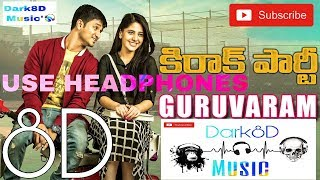 Guruvaram 8D Audio Song | Kirrak Party | Nikhil Siddharth | Telugu 8D Songs | Dark8D Music