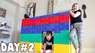 LAST TO LEAVE GIANT LEGO HOUSE WINS $1,000 | JKrew