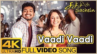 Sachien Tamil Movie Songs | Vaadi Vaadi Full Video Song 4K | Vijay | Genelia | DSP | Santhanam