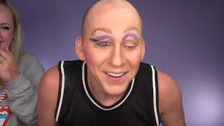 Horrible Halloween Trixie Makeup On Trixie Mattel | Brittany Broski