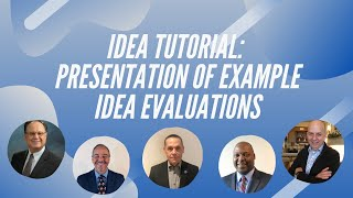 IDEA Tutorial: Presentation of sample IDEA evaluations