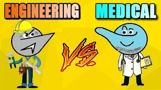 Engineering Vs Medical Students Life!