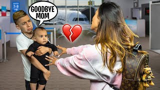 LEAVING OUR KIDS BEHIND For THE FIRST TIME.. (GOODBYE) | The Royalty Family