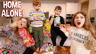 KIDS STAY HOME ALONE FOR 24 HOURS!! **NO RULES** | JKREW