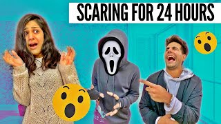 Scaring My Brother & Sister for 24 Hours | Rimorav Vlogs