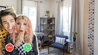 3 Roommates DIY Their Own Room Makeover via FaceTime! | Mr. Kate Virtual Design!