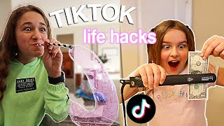 Life Hacks From TIKTOK! Let's SEE If They Work! | CILLA AND MADDY