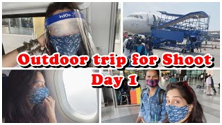 I left for Outdoor Shoot |Flight Take-Off | Two failed attempts to make a vlog 🙈| Dipika Ki Duniya