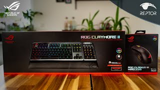 ASUS HIGH-END Wireless Gaming Gear + Challenge vs @KreativEcke  | ASUS ROG Claymore II + Gladius III