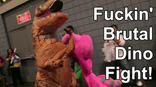 Barney The Dinosaur Vs Big Fuckin' T-rex with Commentary!