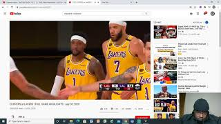 Clippers VS Lakers Highlights Reaction