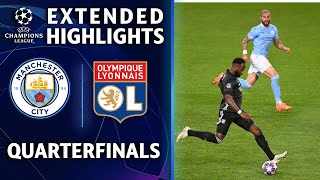 Manchester City vs. Lyon | Champions League Quarterfinal Highlights | UCL on CBS Sports