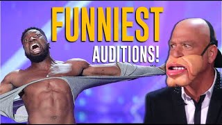 Top 10 FUNNIEST Auditions on America's Got Talent  Will Make You LOL😂